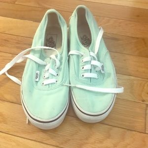 Vans, limited edition mint green